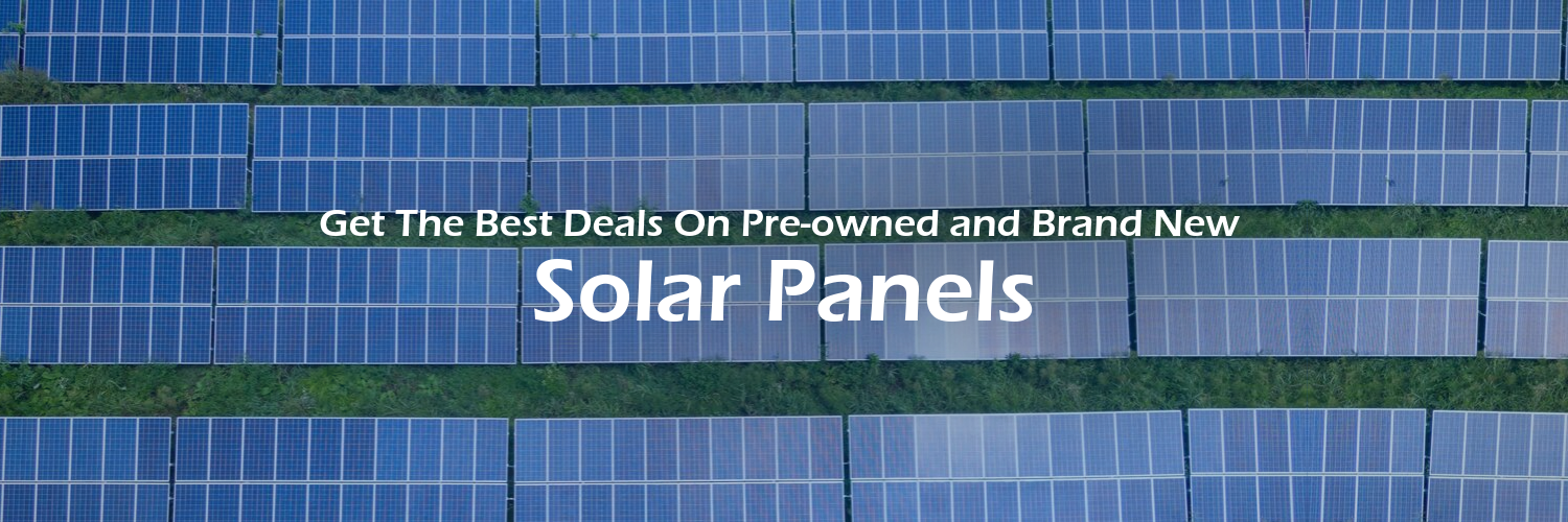 Get the best deals on solar panels in our auctions